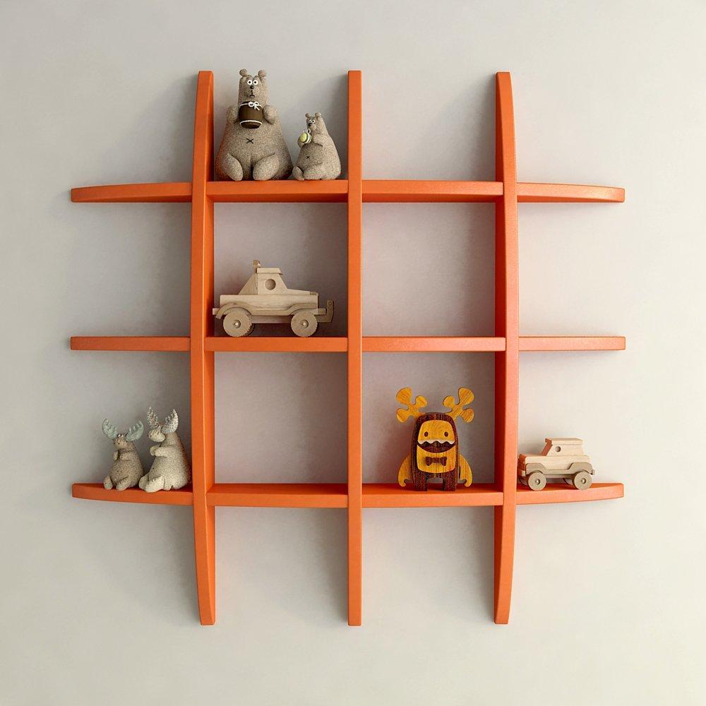 custom decor wall rack orange