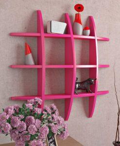 decorative display shelves unit pink