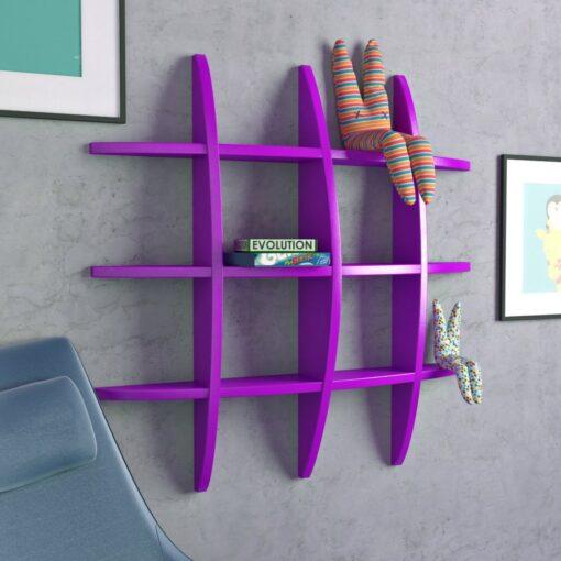 decorative display unit purple for home
