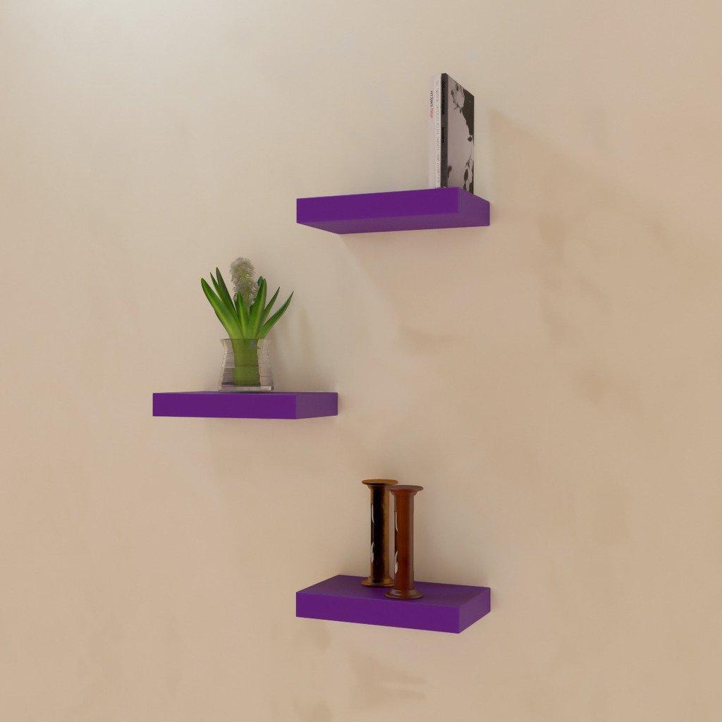 decorative wall decor wall shelves purple