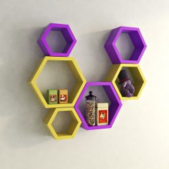 decorative wall racks yellow purple for home decor