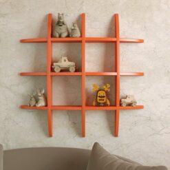 decornation globe shape wall shelf orange