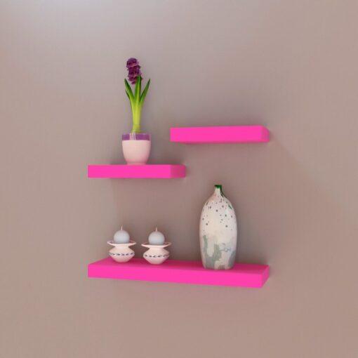 decornation wall shelves online for sale pink color