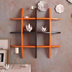 designer display racks orange black
