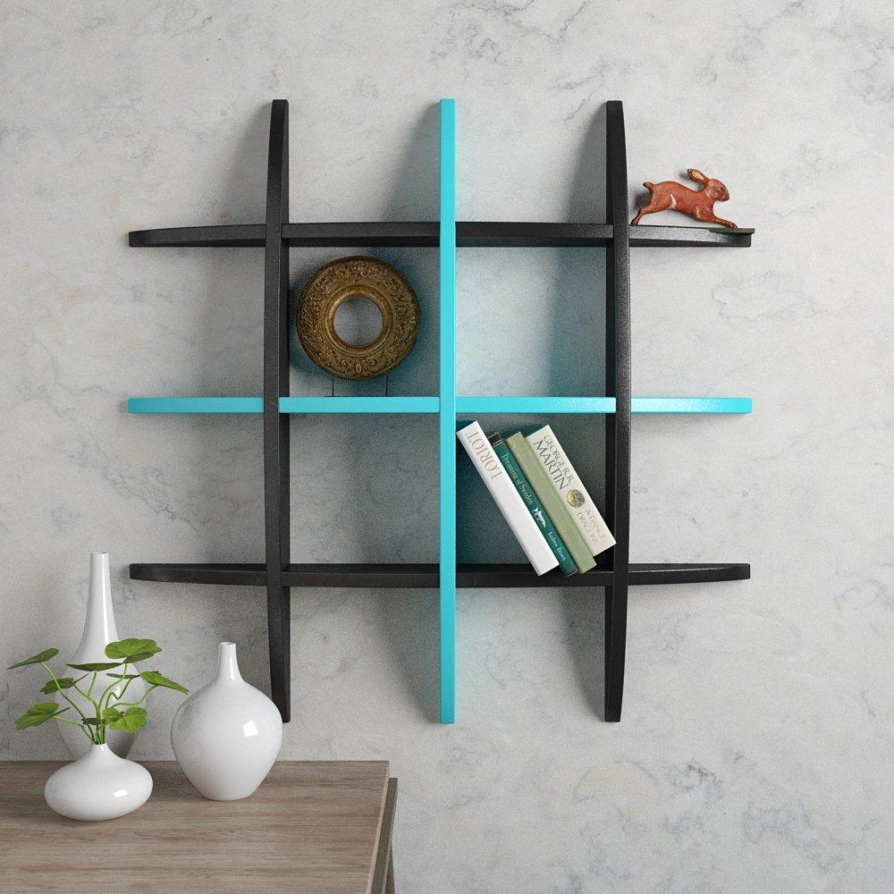 Decorative Floating Globe Wall Shelves - Black & White