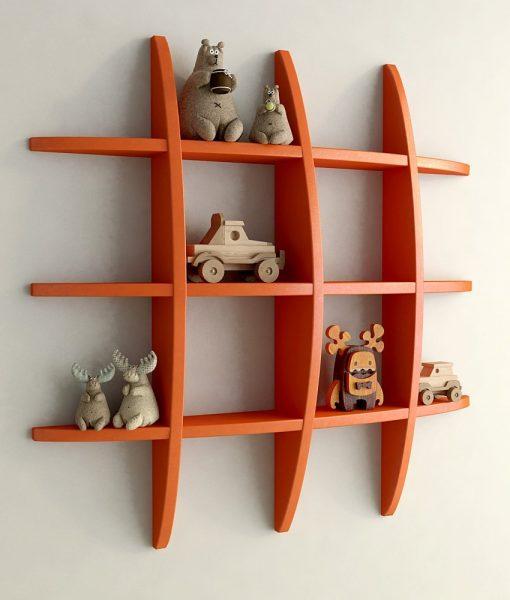 display wall shelf for home orange