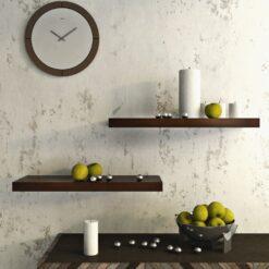 display wall shelves brown for livingroom decor