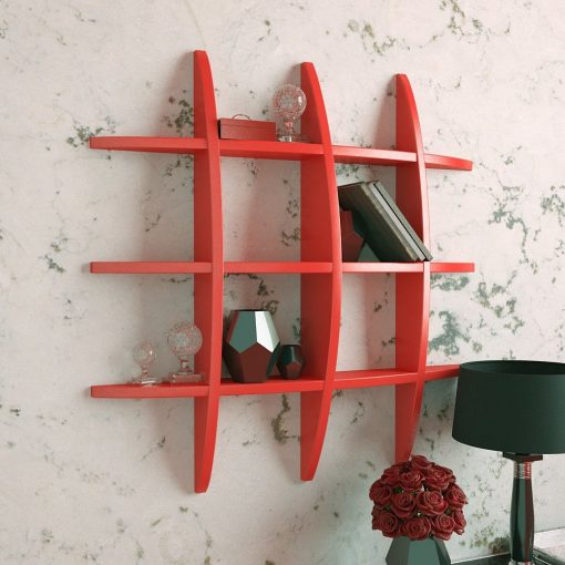 globe shape display unit red