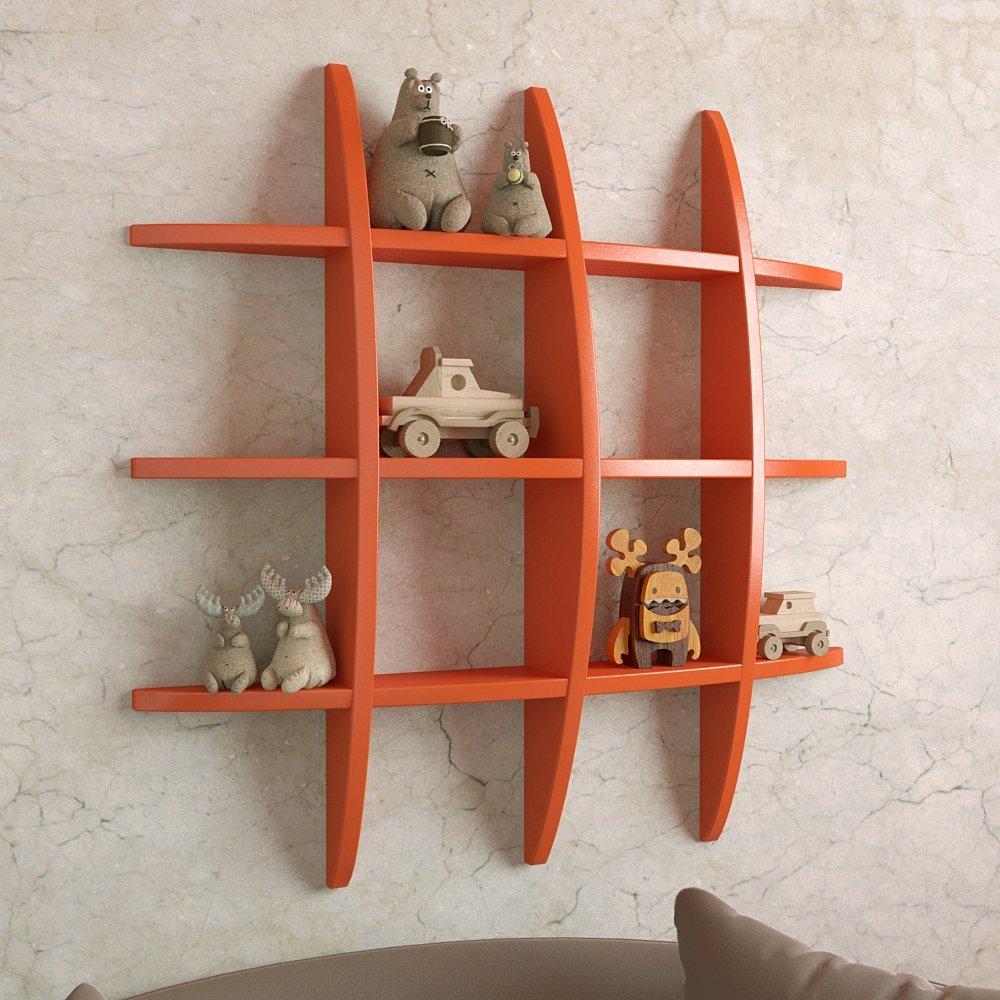globe shape wall rack for display orange