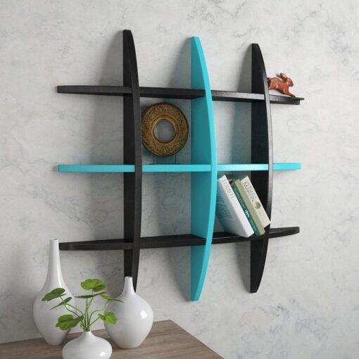 globe wall shelves black skyblue for home decor