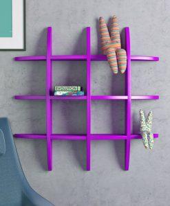home decor display racks purple