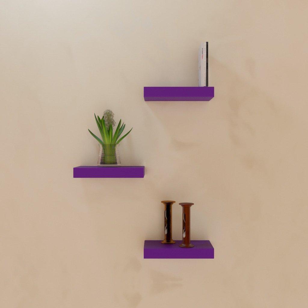 living room decoration wall racks purple