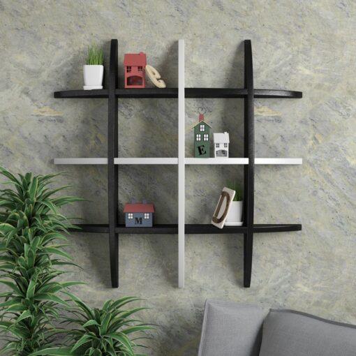 modern wall decor shelf black white for sale