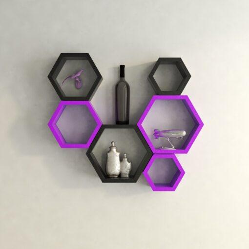 purple black wall shelf brackets for home decor