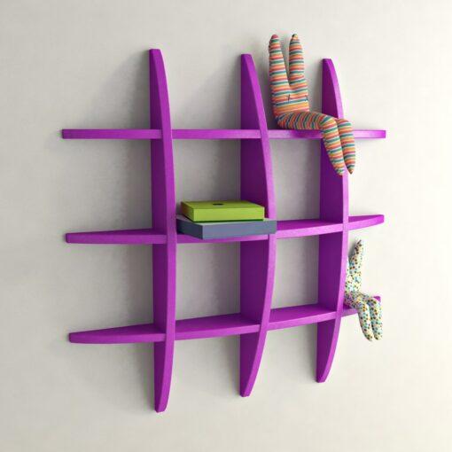purple contemporary wall display unit