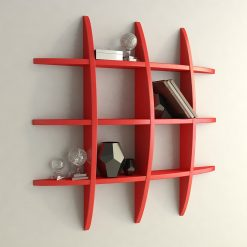 red display wall unit for home