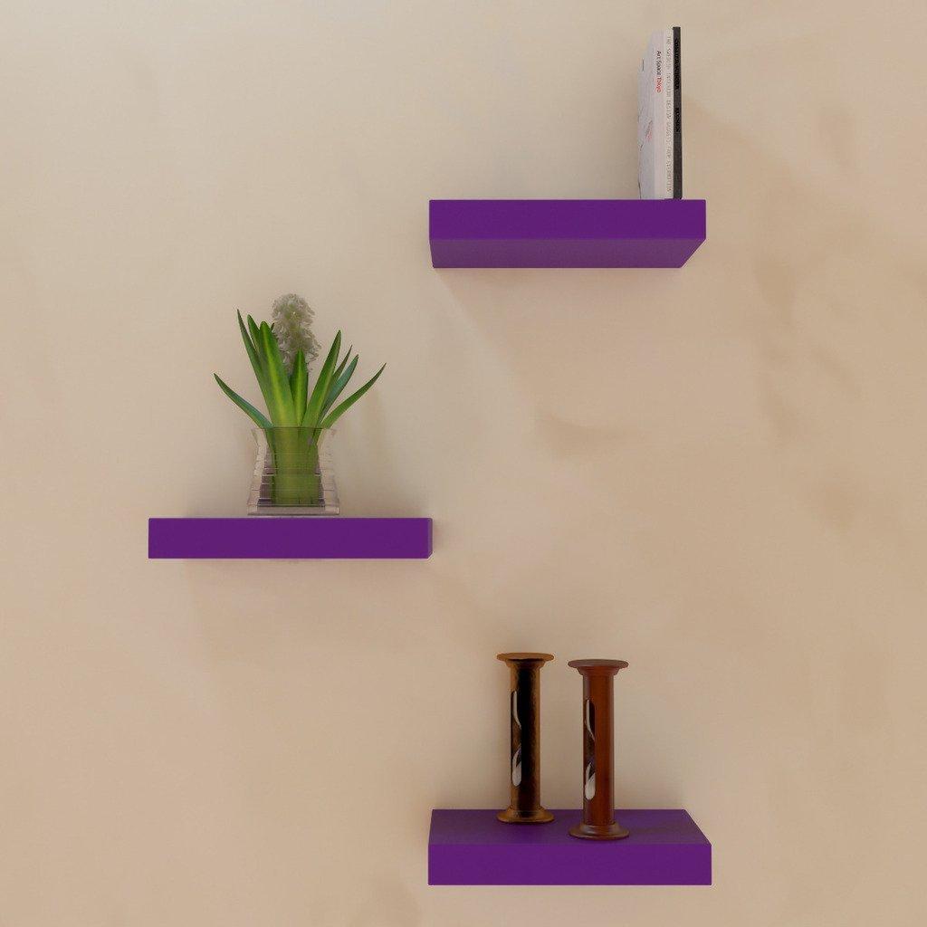set of 3 designer wall shelf unit