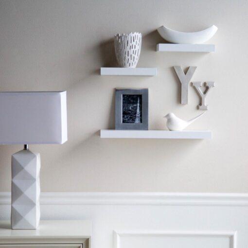 simple wall decor shelves white