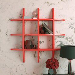wall decor display unit red