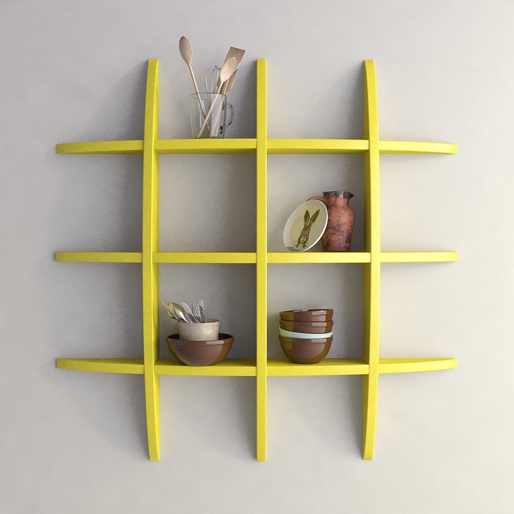 yellow globe shape display unit