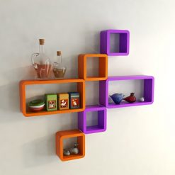 bedroom decor shelves orange purple for sale