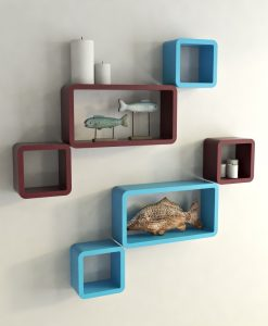 bedroom decor wall shelves for storage and display