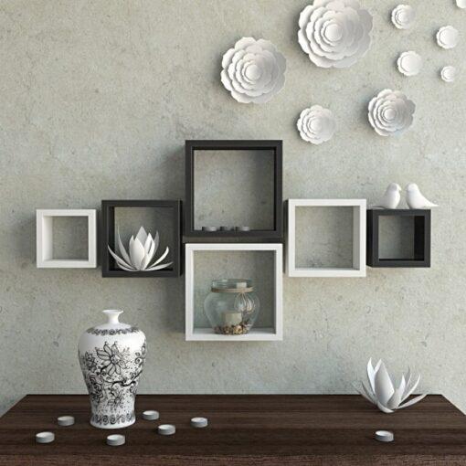 black white storage wall shelves on sale