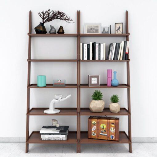 buy decornation set of 2 ladder shelf brown