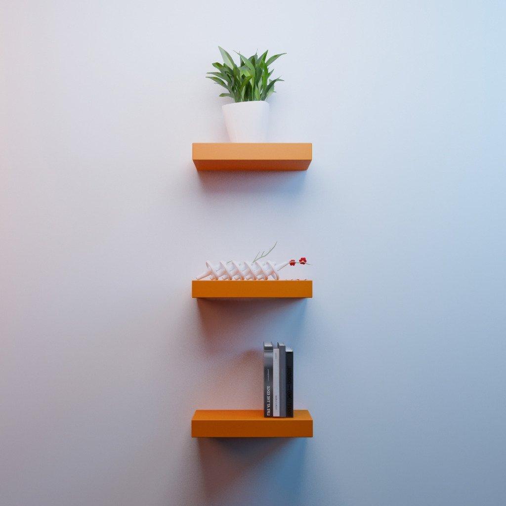 Orange Bedroom Accent Wall