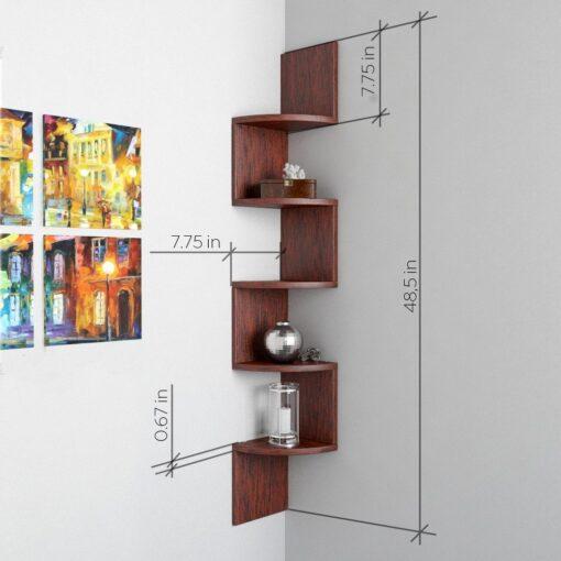 corner storage unit and display unit