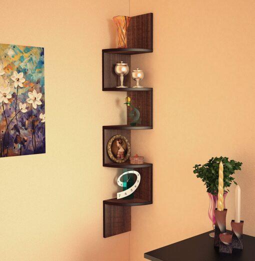corner wall mount shelf for display