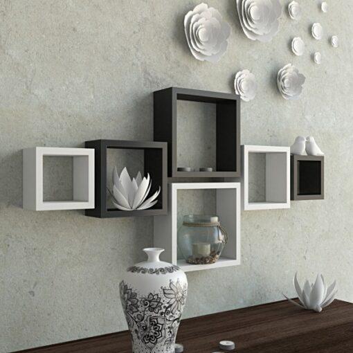decorative black white wall racks