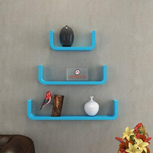 decorative display unit wall racks skyblue