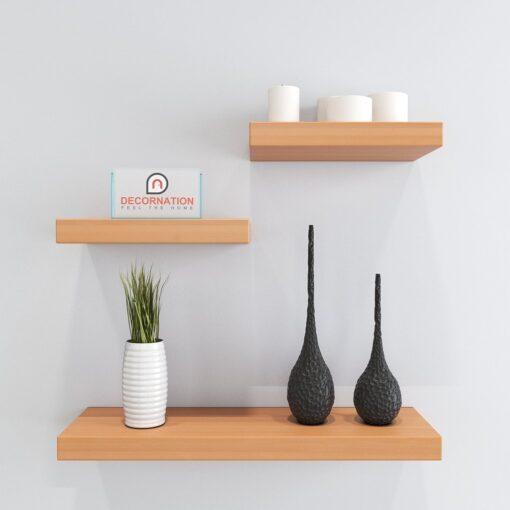 decorative floating shelves bavarian beech for display