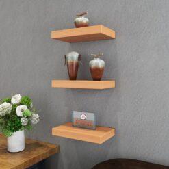decorative wall rack shelf unit bavarian beech