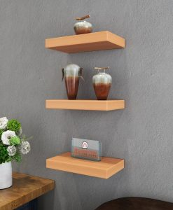 decorative wall rack shelf unit bavarian beech