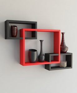 decorative wall racks black red for living room decor