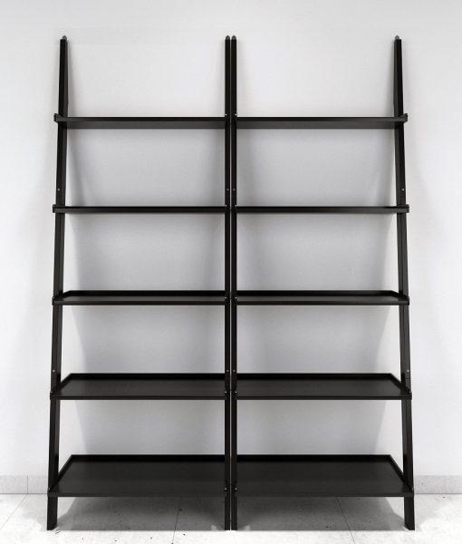 decornation black set of 2 ladder shelf