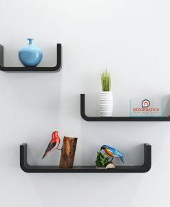 decornation round-u display unit shelves black for home decor