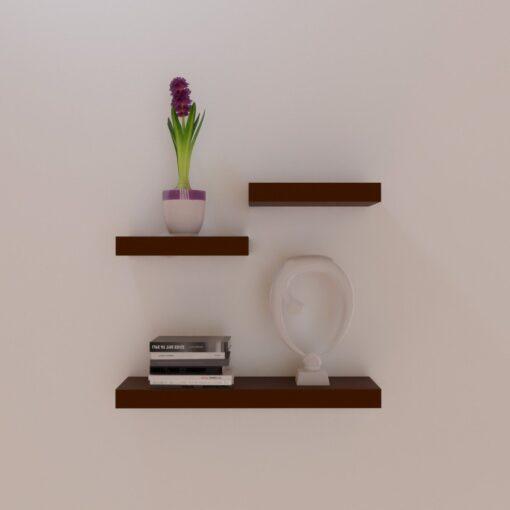 designer floating wall rack unit