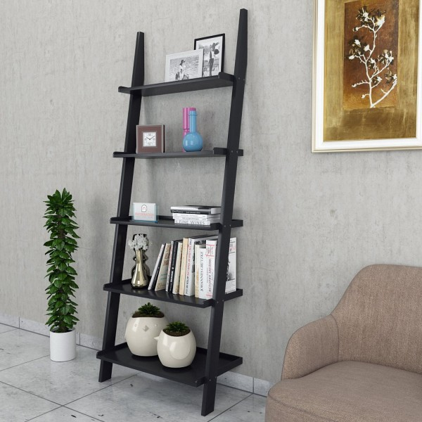 designer ladder shelf black low price