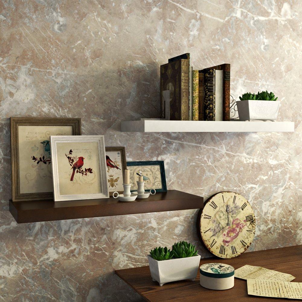 designer wall racks brown white for interior decor