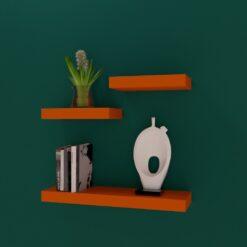 designer wall racks for storage and display orange