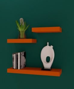 designer wall racks for storage and display orange