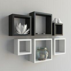 display black white wall shelves on sale