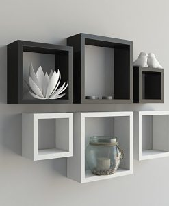 display black white wall shelves on sale