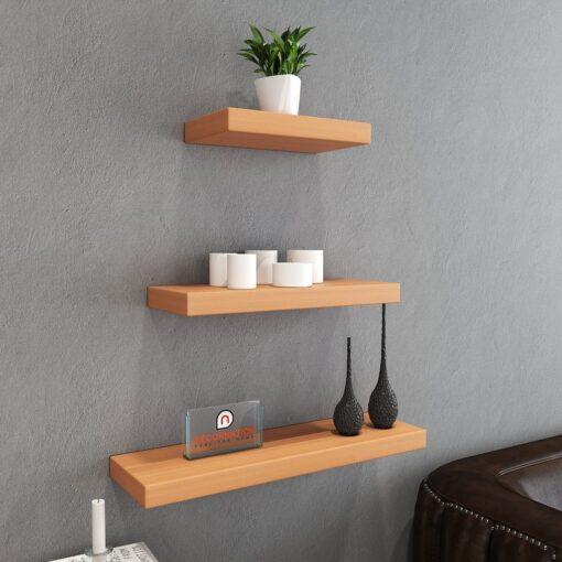 display wall unit bavarian beech set of 3