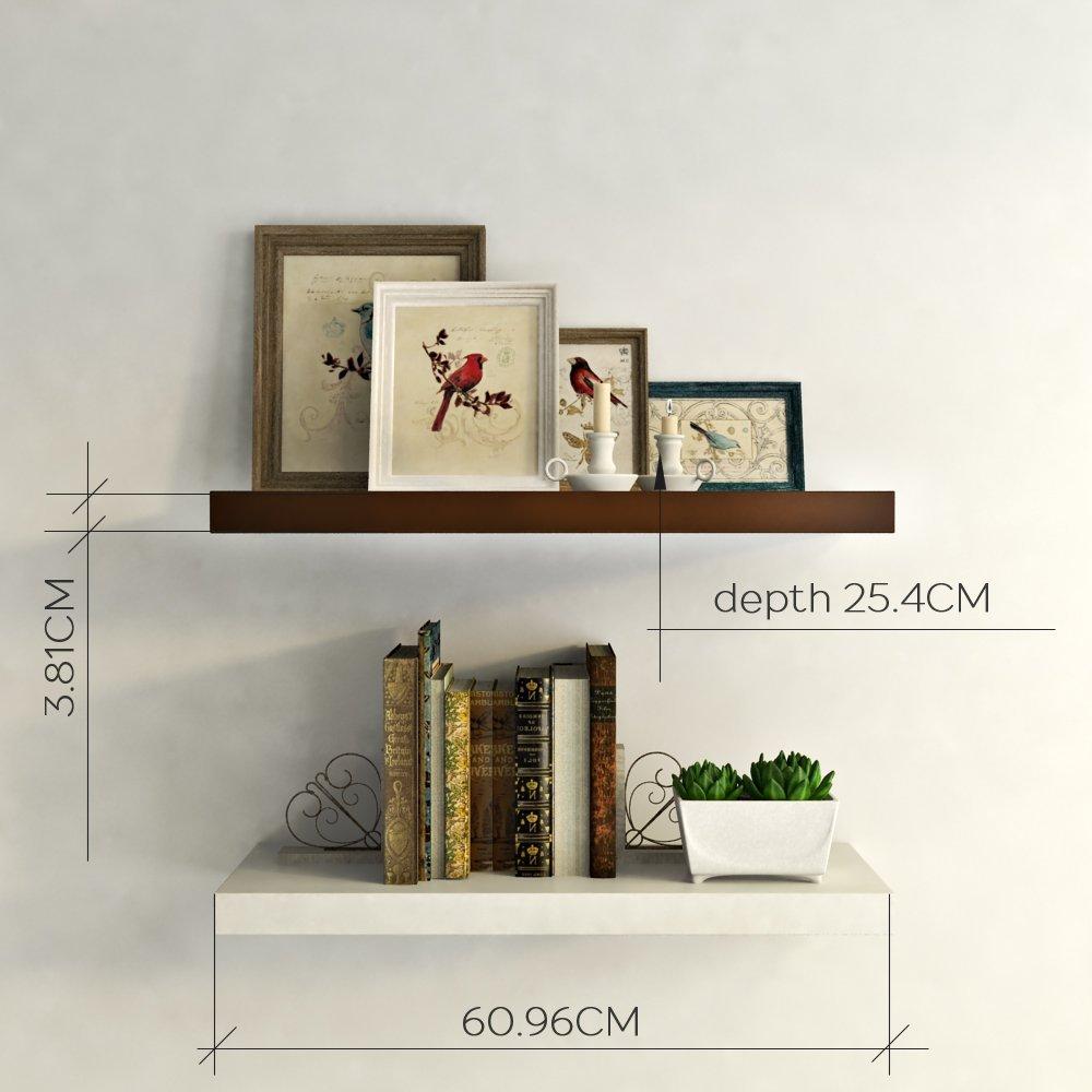 diy decor wall shelves brown white online buy india