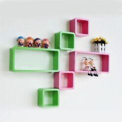 diy wall decor wall racks green pink