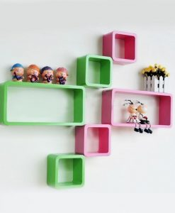 diy wall decor wall racks green pink